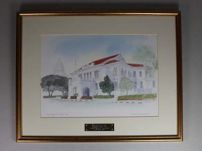 Print of the Singapore Cricket Club Pavilion, 2009