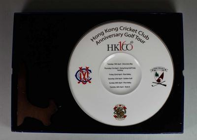 Commemorative plate, Hong Kong Cricket Club 160th Anniversary Golf Tour