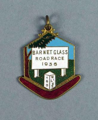 Medal won by W. Maddock  - Barnet Class 160 Mile Road Race 1936