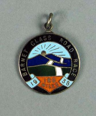 Medal won by W. Maddock - Barnet Class 160 Mile Road Race 1938