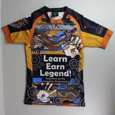 Indigenous All-Stars jersey worn by Johnathan Thurston, 2011