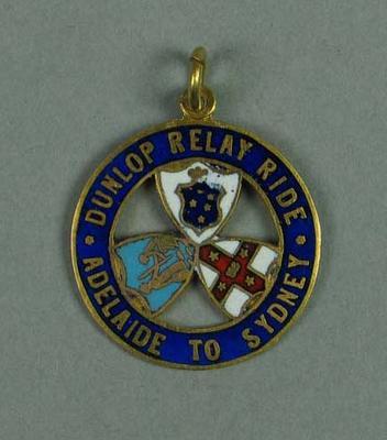 Medal, Dunlop Relay Ride Adelaide-Sydney 1909