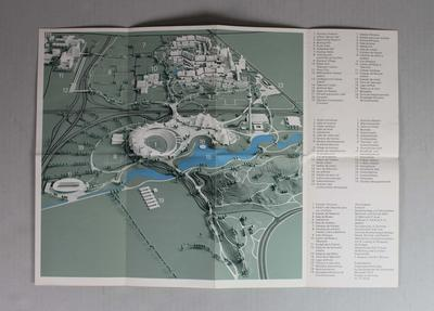 Site map, Munich Olympic Games, 1972