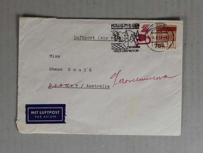 Envelope sent to Shane Gould from Germany; Documents and books; 2014.1.7