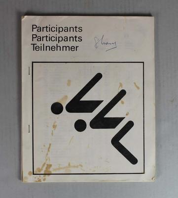 Swimming programme for participants, Munich Olympic Games, 1972