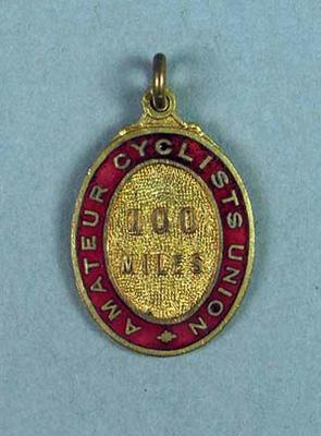 Medal, Amateur Cyclists Union 100 Miles Race 1922