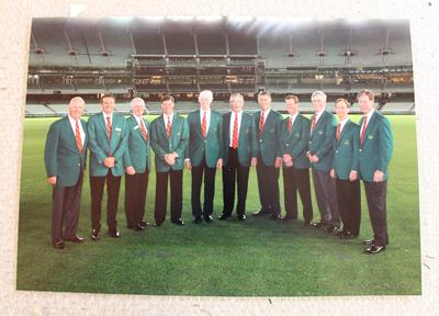 Photograph of Augusta National Golf Club Committee at the Melbourne Cricket Ground, 2014