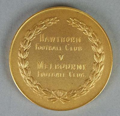 T.M. Ferguson Memorial Trophy medal awarded to Gary Young, 1960