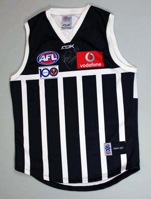Autographed Port Adelaide guernsey worn by Domenic Cassisi, AFL Heritage Round, 2007