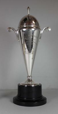 Russell Mockridge Memorial Winners trophy presented to Bruce Clark, 1971; Trophies and awards; N2015.30.1
