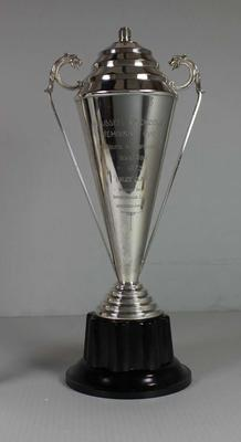 Russell Mockridge Memorial Winners trophy presented to Bruce Clark, 1973; Trophies and awards; N2015.30.2
