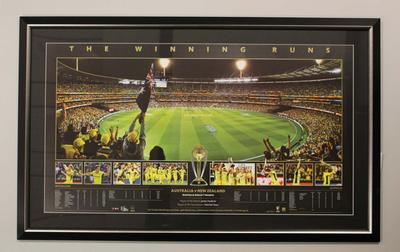 Limited edition print, 'The Winning Runs', 2015