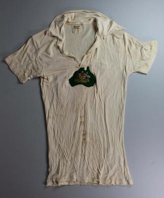British and Empire Games Australian team cycling top worn by Jack Molloy, 1938