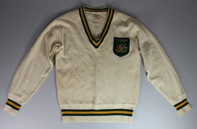 British and Empire Games Australian team pullover worn by Jack Molloy, 1938