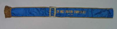 Sash awarded for First Place, 25 Mile Amateur Championship of WA 1920