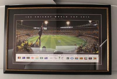 Framed print, 'ICC Cricket World Cup 2015 - The Final'
