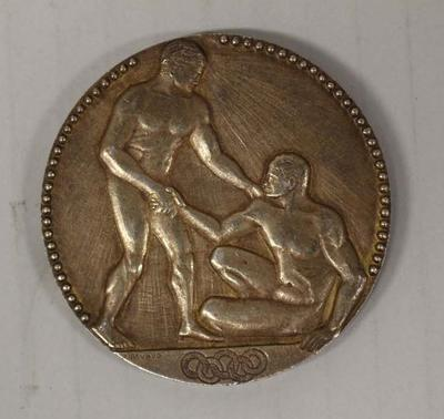 Gold medal awarded to Richmond 'Dick' Eve, men's plain high diving, VIII Olympic Games, Paris, 1924