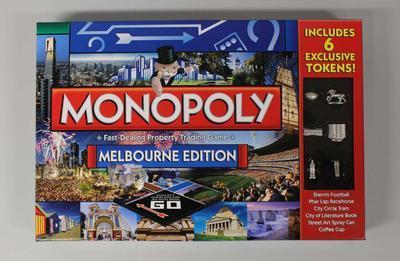Monopoly board game, 'Melbourne' edition, 2015