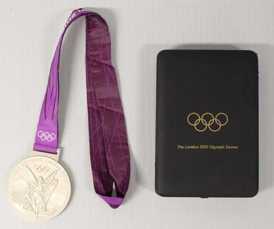 Silver medal awarded to Leisel Jones, 4 x 100m medley relay, XXX Olympic Games, London, 2012