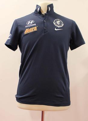 Carlton Football Club polo shirt worn by Carlton coach Michael Malthouse, May 1, 2015