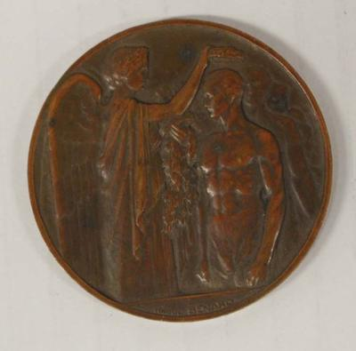 Participation medal awarded to Richmond 'Dick' Eve, VIII Olympic Games, Paris, 1924