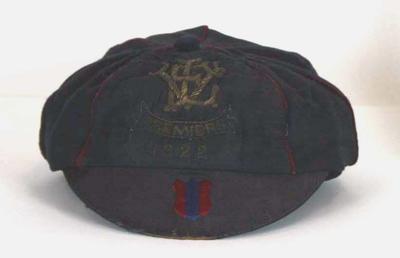 Fitzroy Football Club premiership cap worn by Percy Parratt, 1922