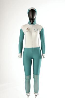 Bodysuit worn by Catherine Freeman, Sydney Olympic Games, 2000
