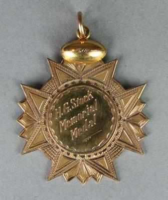 H.G. Stock Memorial Medal, Fairest and Most Brilliant, 1973, awarded to Barrie Robran, North Adelaide Football Club