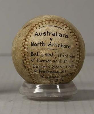 Baseball, Australians v North Attleboro, Massachusetts, 1897