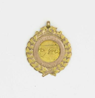 Gold medal awarded to Richmond 'Dick' Eve, under 20 years diving, New South Wales Amateur Swimming Association (NSWASA) Swimming Championships, 1917; Trophies and awards; 2015.2.17