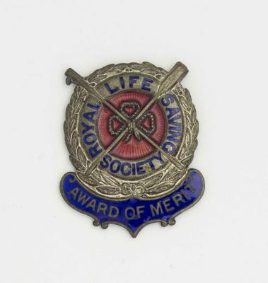 Royal Life Saving Society Award of Merit awarded to Richmond 'Dick' Eve, date unknown