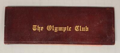 San Francisco Olympic Club membership card used by Richmond 'Dick' Eve, 1915