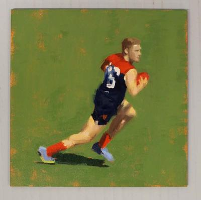 'Australian Rules Football - Melb FC at the MCG', by Helen Cooper, 2015
