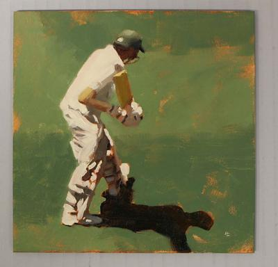 'BATSMAN 3 - Cricket at the MCG', by Helen Cooper, 2015