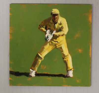 'WICKET KEEPER - Cricket at the MCG', by Helen Cooper, 2015