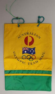 Australia Post official Olympic Team mailbag, used during the 1996 Atlanta Olympic Games