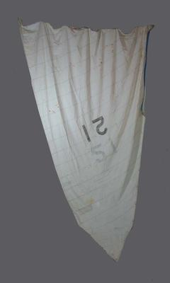 Main Sail for Cadet Dinghy, Sail  No. 21
