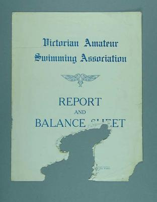 Annual Report of the Victorian Amateur Swimming Association, for season 1932-33