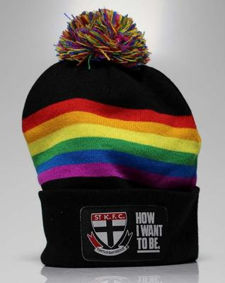 "St Kilda Football Club ""Pride"" membership beanie, 2016"