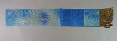 PCC Mile Championship Super Elliott Sash 1943, won by Keith Thurgood