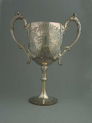 Trophy awarded for 1910 Footscray CC 15 Mile Road Race, won by AH Riddell; Trophies and awards; 1987.1824.1