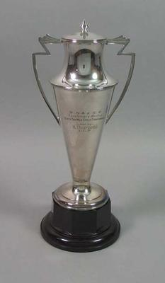 Trophy for Great Northern Athletic & Cycling Club State One Mile Race 1937, won by Keith Thurgood