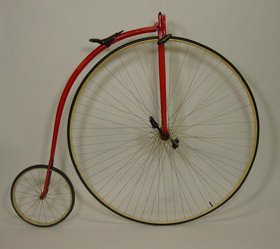 Penny farthing bicycle ridden by Lou Herman at the MCG, 1899