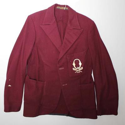 Queensland lacrosse team blazer worn by Dave Bowman, 1936