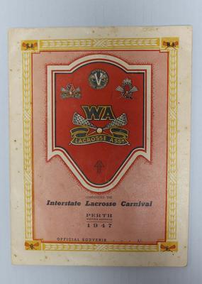 Interstate Lacrosse Carnival programme, 1947