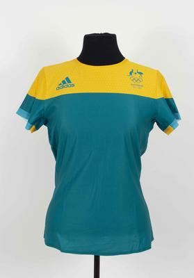 Australian team competition shirt worn by Melissa Tapper, Rio De Janeiro Olympic Games, 2016