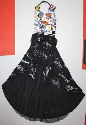 Dress worn by Fiona Mills, Brownlow Medal dinner, 2003