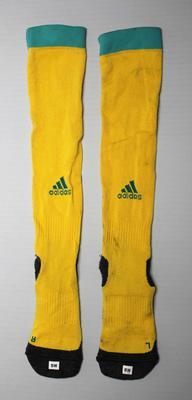Socks worn by Sharni Williams, women's rugby sevens final, 2016 Olympic Games, Rio de Janeiro