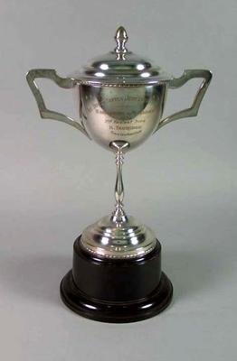 Trophy for Warrnambool-Melbourne Race 1938 Second Prize, won by Keith Thurgood