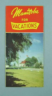 Travel brochure for Manitoba, c1950s